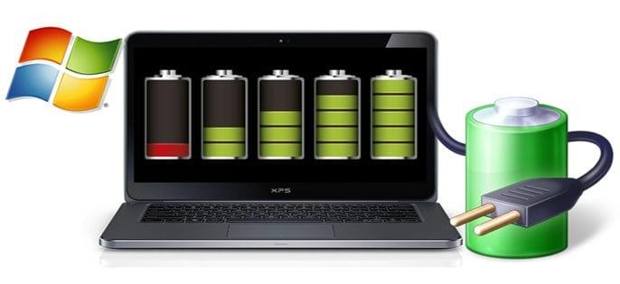 Laptop showing charging