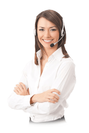 woman with arms crossed wearing a headset